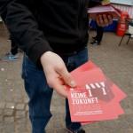 Flyer verteilt auf der Walpirgisnachtdemo